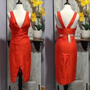 NWT Do + Be sheath dress with cut-out bandeau